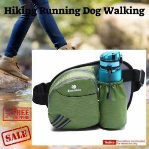 Fanny Pack with Water Bottle Holder for Women Men Hiking Waist Hip Bum Bag