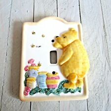 Vintage DISNEY Porcelain Light Switch Cover WINNIE THE POOH Taiwan Single Switch