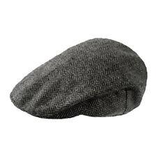 Mens Tweed Flat Cap Grey Herring LXL cc5f9a8aeac4
