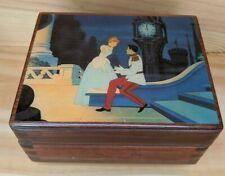Vintage Disney Cinderella Wooden Music Box