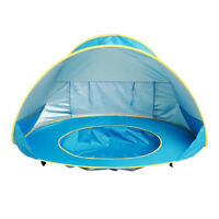 Pop Up Beach Tent Sun Shelter w/ Canopy Pool For Kid Baby UPF 50+ Travel Set