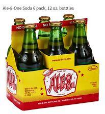 Ale 8 One-6 pack  soda 12 oz glass bottles Crisp Ginger delight