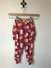 Mothercare Baby Red Floral Spot Print Sleepsuit Babygrow, Size 3-6 Months