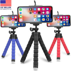 Tripod Stand w/ Phone Holder Mini Octopus Small Adjustable Mount iPhone Samsung