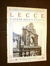Lecce, l'Atene della Puglia - Le Cento Città d'Italia illustrate
