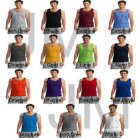 Gildan 2200 Men's Ultra Cotton Tank Sleeveless Muscle Tee T Shirt Top New