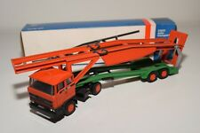 ± LION CAR DAF 2800 TRUCK WITH TRAILER CAR CARRIER AUTO TRANSPORTER N MINT BOXED