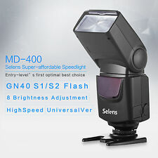 Selens 3s highSpeed GN40 Speedlite Flash Light for Canon 60D 70D Nikon D90 D7100