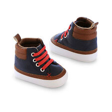 OSHKOSH B'GOSH HIGH TOP BOYS CRIB SHOES NEWBORN BRAND NEW IN PACKAGE SHIPS FREE