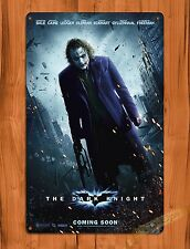 "TIN SIGN ""Batman The Dark Knight"" Vintage Movie Art Poster Heath Ledger"