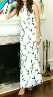 New $1595 Tory Burch Taya Embroidered Organza Floral Maxi Long Gown Dress US 2