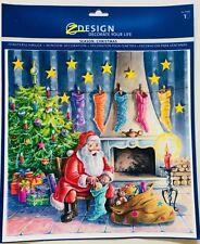Avery Fensterbild Weihnachten Nikolaus mit Stiefel Weihnachtsmann Santa Claus