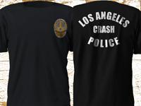 New LAPD Los Angeles Police Department Crash Unit Black T-Shirt S-4XL