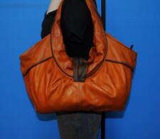 Larger Rouched Pleat Tote Shopper Slouch Carryall Work Shoulder Purse Bag ITALY