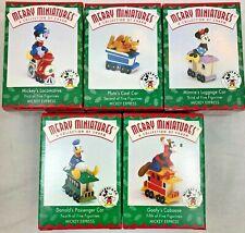 Hallmark Mickey Mouse Express Train Minnie Donald Pluto Goofy Set of 5 Ornament