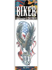 MC EAGLE BIKER TATTOO 1 PC TEMPORARY FAKE BODY ART GAG NOVELTY TRICK MAGIC KIDS