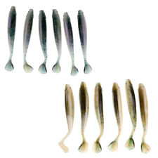 12Pcs Soft Minnow Shad Fishing Lures Worms Bass Swimbaits Paddle Tail Lures