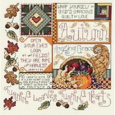 Autumn sampler Cross Stitch Kit Janlynn - 14 comte - 9.25 X 9.25""