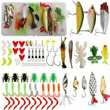 77 Pcs Fishing Lures Baits Crankbaits,Jigs,Worms,Fis hing Frog Lures Spinner lure