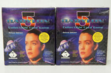 Babylon 5 CCG Deluxe Edition Lot of 2 Booster Boxes 24 Packs 8 Cards Sealed New