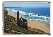 Cornwall  -  Tin Mine Nr St Agnes Bay  - Jumbo Fridge Magnet 90mm x 60mm