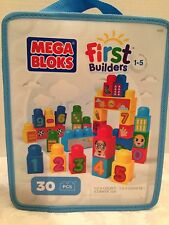 Mega Bloks First Builders 1-2-3 Count, 30-Piece Red Bag Building Blocks Numbers