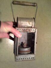 WW2, Wk2: lampe carbure Allemande originale en acier. Wh.