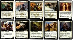 MTG - 10 x Different White Human Warriors for Commander deck building - All LP