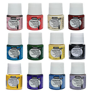 Pebeo CERAMIC Porcelain, China, Terracotta Paint 45ml Enamel Finish - 28 Colours