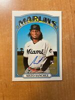 2021 Topps Heritage - Sixto Sanchez - Real One On Card Rookie Auto MARLINS RC