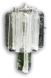 Chandelier Original venini Design toni zuccheri Glass Bark 1960 Vintage
