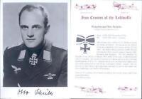 SPGL09 German Luftwaffe Battle of Britain photo signed SCHULTZ KC