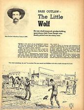 Little Bass Outlaw &Texas Ranger - Genealogy