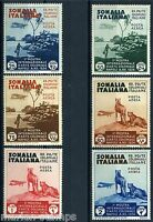 ITALIAN SOMALIA  SCOTT#C1/6  MINT NEVER HINGED FULL ORIGINAL GUM