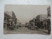 Rppc Minot North Dakota Central Avenue Cars Advertising Signs Dated 1924