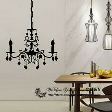 Chandelier Removable Wall Stickers Vinyl Wall Decals Art Mural Home Decor DIY AU