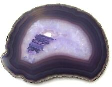 "Brazilian Agate Geode Slab / Slice - 5.6"" x 4.25"" - Purple - 202 grams - 7.1 oz"