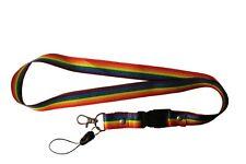 LGBT Rainbow Pride Flag Lanyard Keychain Passholder... 20 Inches Long ... New