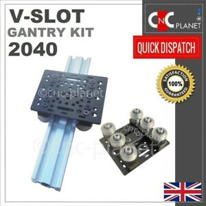 V-SLOT 2040 EXTRUSION PROFILE GANTRY PLATE KIT CNC ROUTER ACTUATOR X Y Z AXIS UK