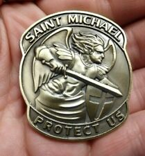 St. Michael US military challenge coin branches USCG USMC ARMY NAVY USAF