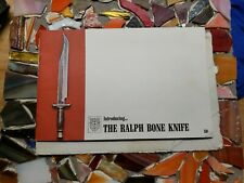 Vintage 1971 The Ralph Bone Knife Catalog, Envelope Address To Phil Lobred