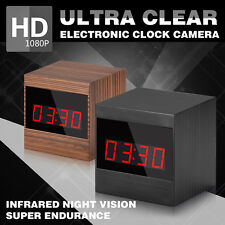 HD 1080P Spy Camera Night Vision Mini Clock Video Recorder Hidden IR Cameras DVR
