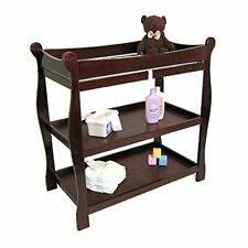 Sleigh Style Changing Table - Cherry