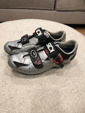 SiDI Mens Size 9.25 9 43 Leather Cycling Shoes Gray Black Red