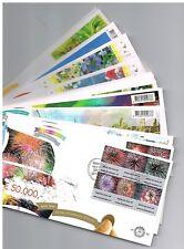 NEDERLAND COMPLETE JAARSET FDC 2007 ZONDER ADRES OPEN FLAP