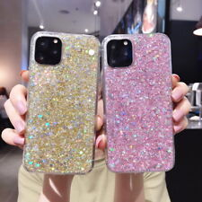 For iPhone 12 11 Pro Max XS XR 8 7 Plus Shockproof Glitter Soft Phone Case Cover
