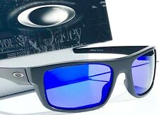 NEW* Oakley DROP POINT Matte Black POLARIZED Galaxy Blue Sunglass 9367