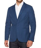 Perry Ellis Mens Sport Coat Blue 40 Slim Fit Two-Button Water-Resistant $185 908