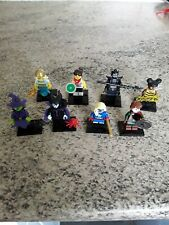 Paquete De Minifiguras Lego Serie .8 en total. Bruja, Genie, Abeja Mujer Discus Etc