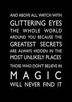 Roald Dahl Magic Glittering Eyes inspirational quote poster art print